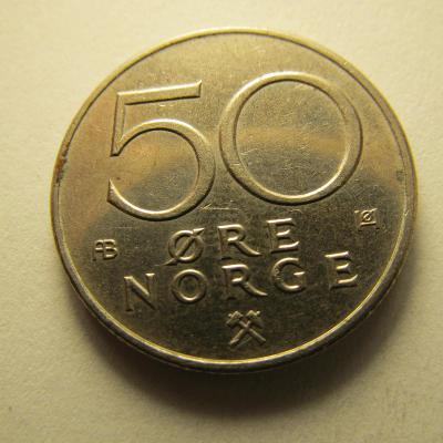 Norsko - 50 Ore  z roku 1974