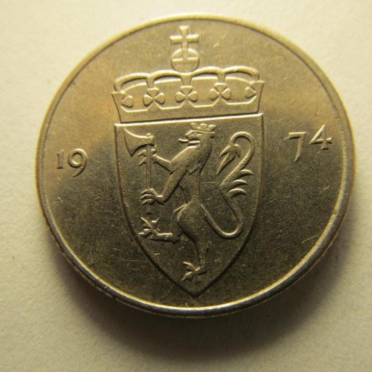 Norsko - 50 Ore  z roku 1974 - Numismatika