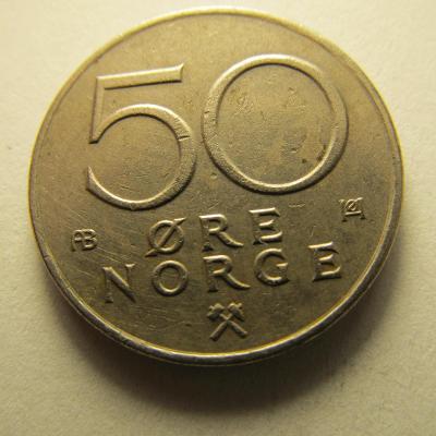 Norsko - 50 Ore  z roku 1977
