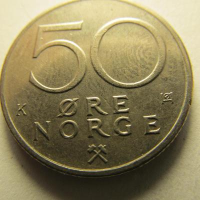 Norsko - 50 Ore  z roku 1982