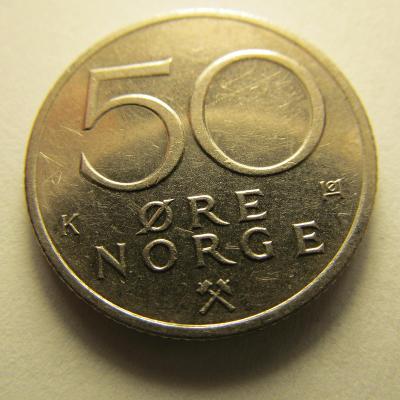 Norsko - 50 Ore  z roku 1983