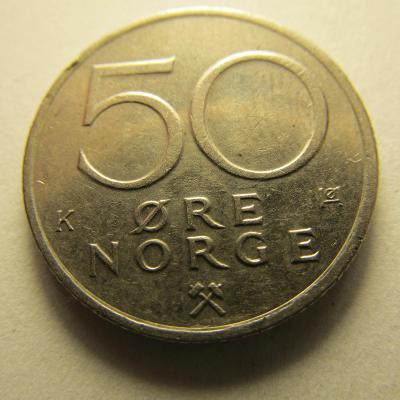 Norsko - 50 Ore  z roku 1985