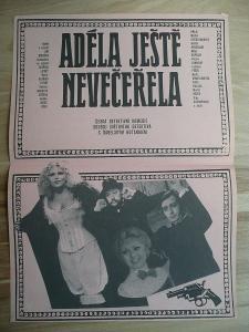 Adéla ještě nevečeřela (filmový plakát, film ČSSR 1