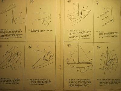 Plánky časopisu Mladý letec z let 1947-48.