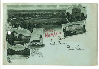 Mimoň, Česká Lípa, litografie (pošk.)