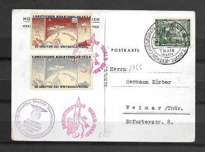 1. Raketová pošta 28.1.1934, Spec.6c2a, vysoký kat.