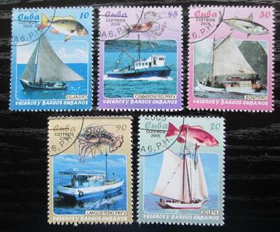Kuba 2005 Rybářské lodě a mořská fauna Mi# 4706-10 0601