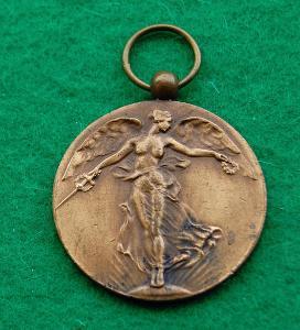 Belgie - vítězná medaile 1914-1918