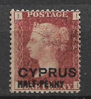 Britská kolonie Cyprus 1881 Half Penny 1881 MH *