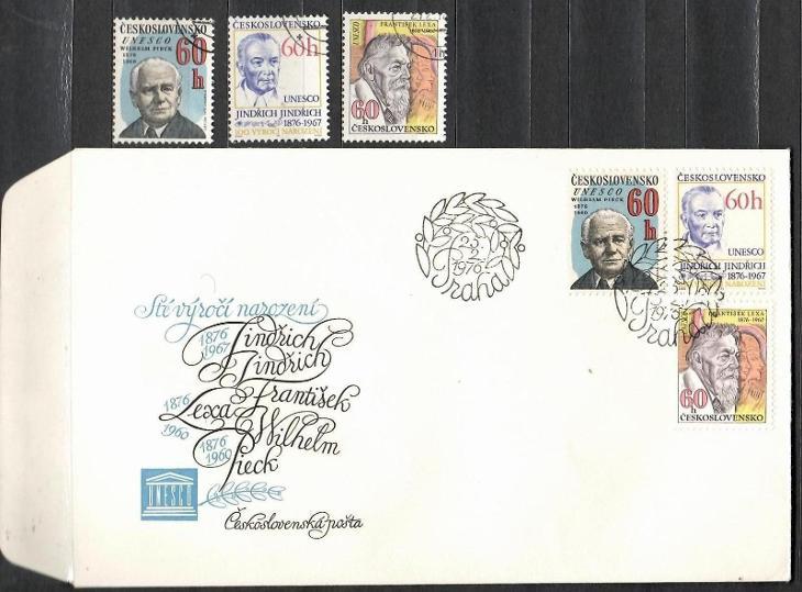 V7053   - FDC obálka prvního dne vydání + známky navíc - Filatelie
