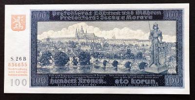 100 K 1940, I. vydání série 26 B, SPECIMEN, stav UNC !!!
