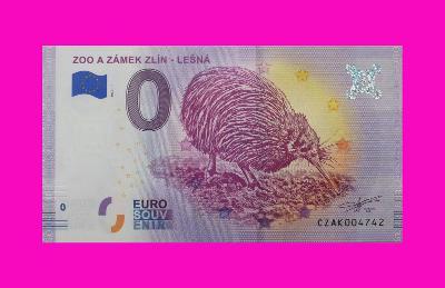 0 Euro souvenir bankovka ZOO A ZÁMEK ZLÍN - LEŠNÁ