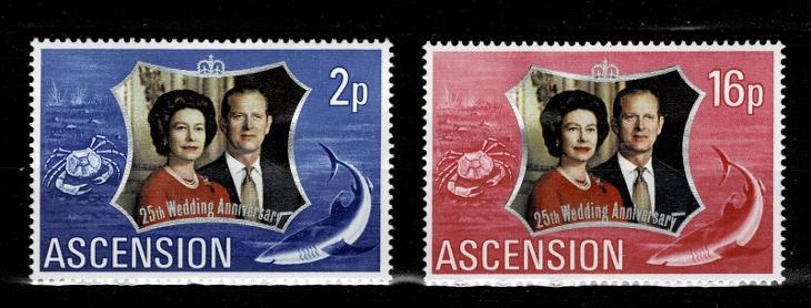 Ascension Island - 25.výročí svatby královského páru Mi 164/5* Nr.80 - Filatelie