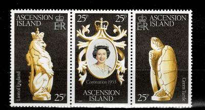 Ascension Island - 25.leté výročí vlády královny  Mi 229/31* Nr.80