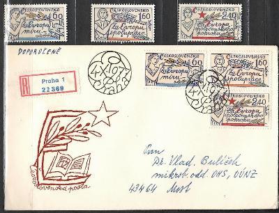 V7093   - FDC obálka prvního dne vydání + známky navíc