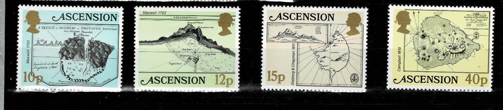 Ascension Island - Mapy ostrova Ascension  Mi 291/4* Nr.80 - Filatelie