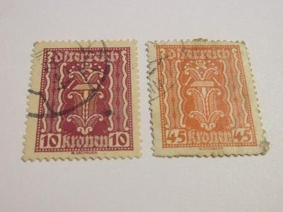 Prodávám známky Rakousko 1922, Symbolika-Nástroje