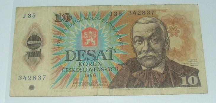 Československo 10 Kčs - Bankovky