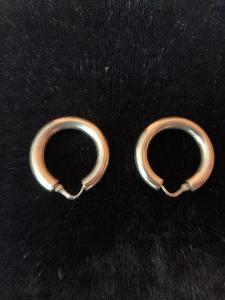 Zlaté náušnice-kroužky