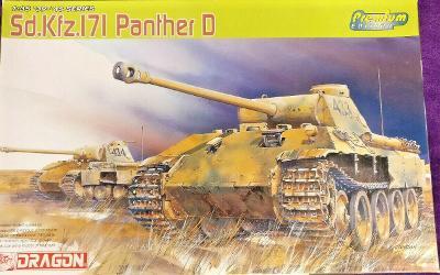 RARE DRAGON 1/35 SdKfz 171 Panther D Premium Edition + moře doplňků