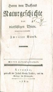 Buffon G.: Naturgesch. Vierfüßigen 2., Opava 1785