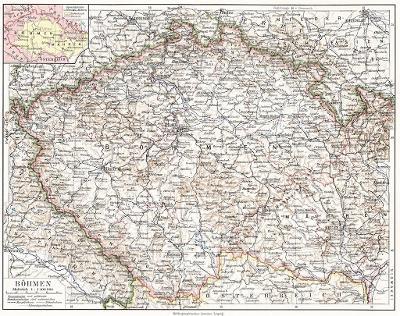 Čechy, Meyer, litografie,  (1920)