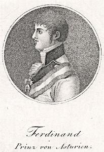 Ferdinand VII. (španělský), mědiryt , (1800)