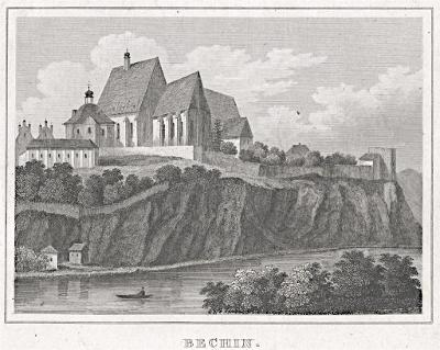Bechyně, Kleine Universum, oceloryt, (1840)