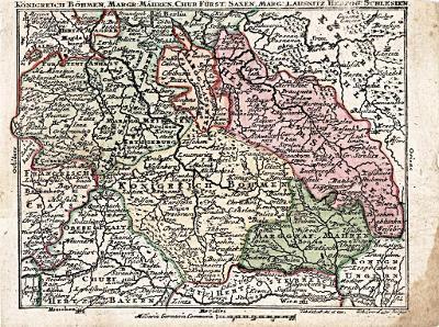 Lobeck - Lotter : Böhmen, kolor. mědiryt,1762