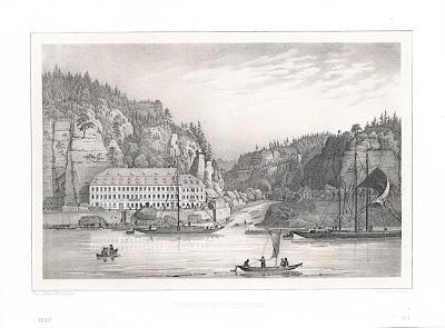 Hřensko , Semmler, litografie, 1845
