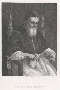Julius II. papež, Jones, oceloryt (1860)
