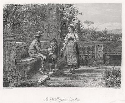 Borghese zahradal, oceloryt, (1860)