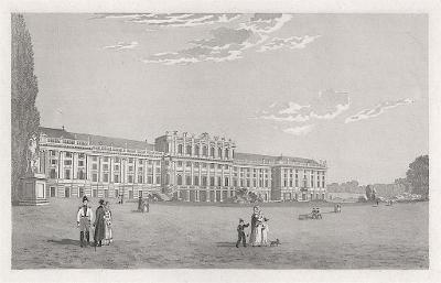 Schönbrunn Wien I., oceloryt,  (1840)