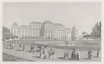 Belvedere Wien,  oceloryt,  (1840)