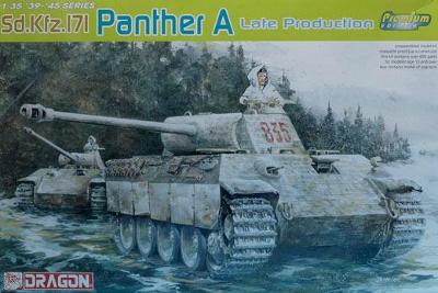 RARE DRAGON 1/35 PANTHER A LATE Premium Edition + moře doplňků