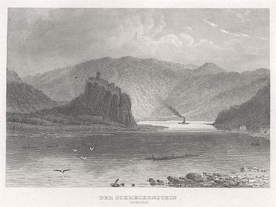 Střekov , Meyer, oceloryt, 1850