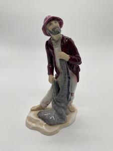 Velká porcelánová socha, figurka Stařec