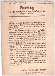 Soud: Odúmrtě, obdarování, pozůstalosti, 1795