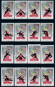 Belize 1979 **/Mi. 432-9 A,B + 2x Block 10,11 sport , komplet , /L22/