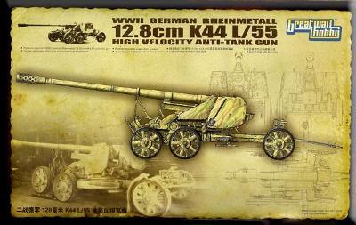 RARE GWH 1/35 Rheinmetall 12,8 cm K44 L/55 Anti Tank Gun