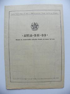 AVIA - BH - 03  - stavební plánek- viz foto