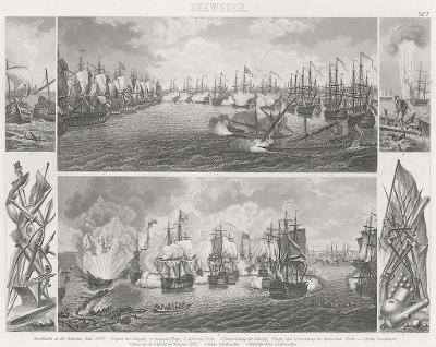 lodě 7., oceloryt, (1860 )