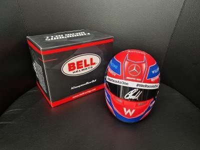 George Russell mini helma (1/2) s podpisem + certifikát
