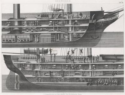 lodě 23., oceloryt, (1860 )