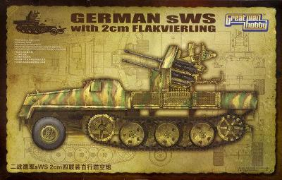 RARE GWH 1/35 German SWS with 2cm Flakvierling