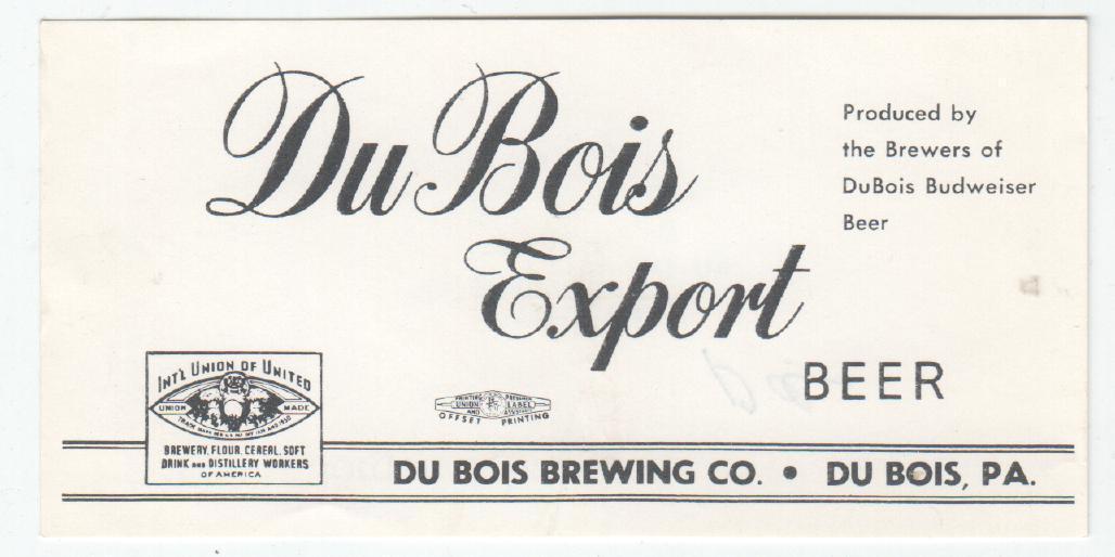 USA Du Bois Brg - Du Bois 11 - Nápojový průmysl