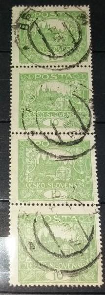 ČSR1 - 1918 -  Hradčany 10h - č.6 - 4 blok