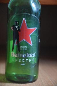 Pivní láhev HEINEKEN SPECTRE 007, speciální edice, 0,3l