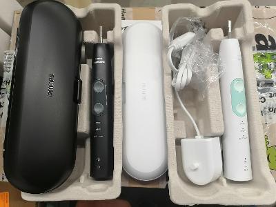 Elektrický zubní kartáček Philips Sonicare Health Black and White-3 ks