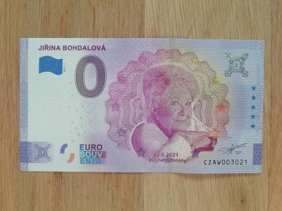 0 Euro Bohdalová Jiřina, výročí 90 let, UNC